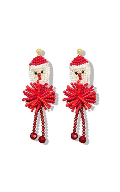 Santa Statement Drop Earrings