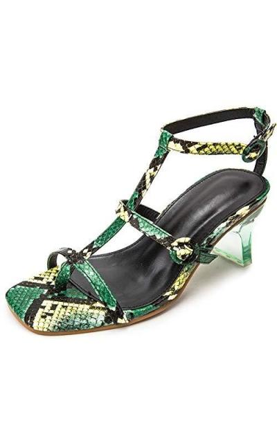 Enelauge Snake Print Sandals
