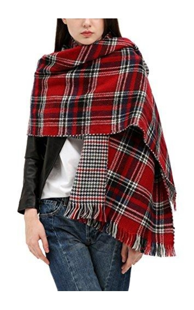 Urban CoCo  Tartan Plaid Blanket Scarf