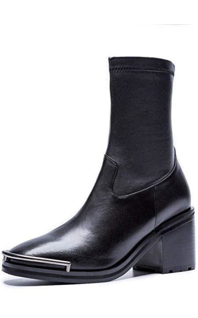 Nine Seven Genuine Leather Dress Ankle Boots