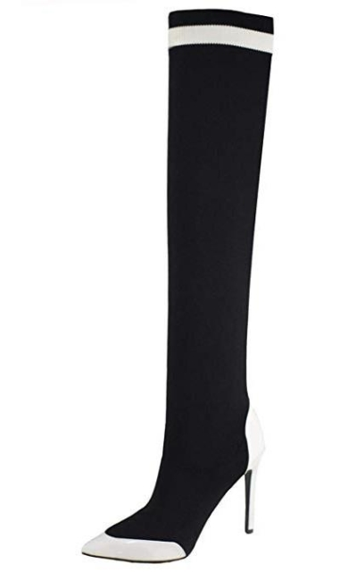 vivianly High Stretchy Thigh-High Pointed Toe Boots
