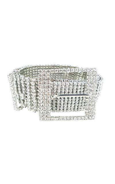 Crystal Rhinestone Chain Waist Buckle Belt