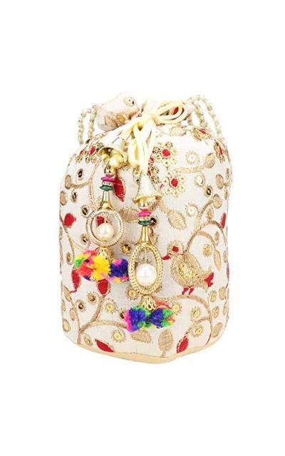 Satin Indian Ethnic Potli Bag
