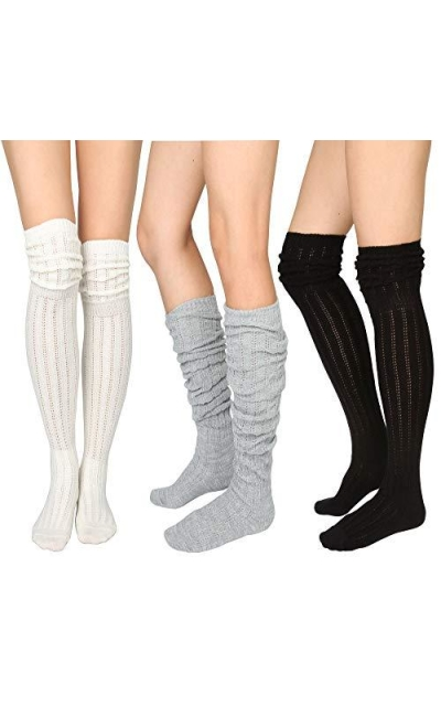 STYLEGAGA  Over The Knee High Knit Boot Socks