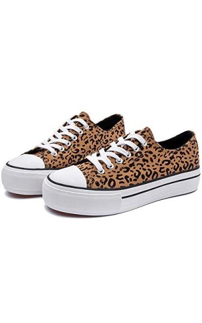 ZGR Leopard Canvas Sneakers