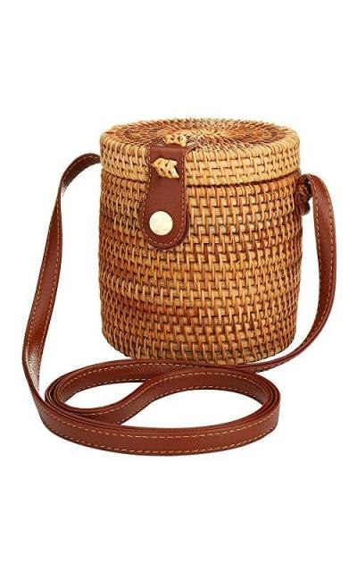 Natural Bucket Bag Straw Shoulder Bag