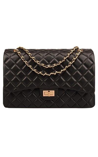 Ainifeel  Oversize Quilted Shoulder Handbag