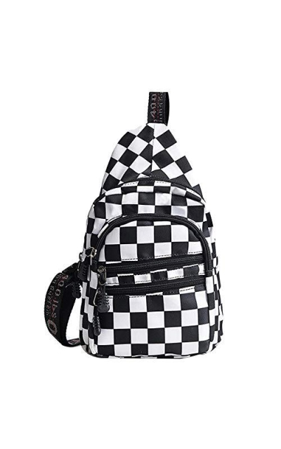 LABANCA Canvas Checkerboard Sling Bag