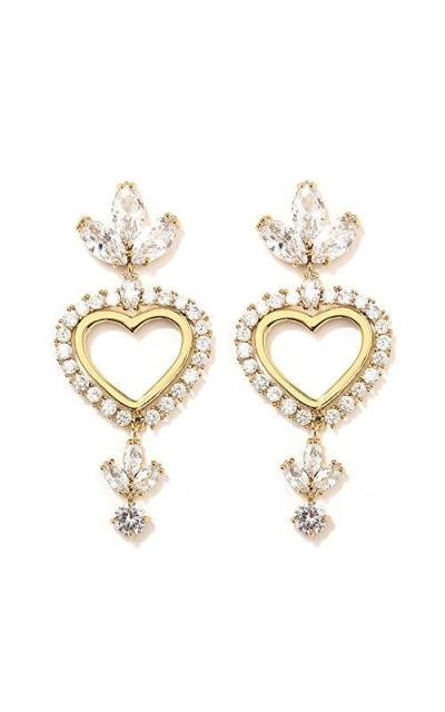 BAYBAY True Heart Crystal Drop Earrings