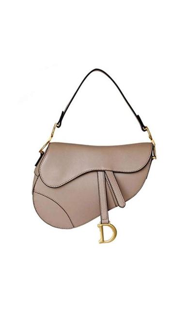 ACTLURE Cowhide Leather Saddle Handbag