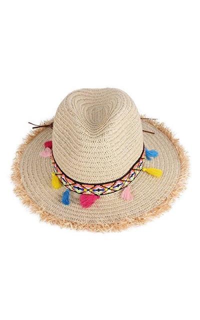 Vankerful Tassels Straw Hat