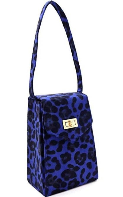 Faux Suede Leopard  Clutch Crossbody