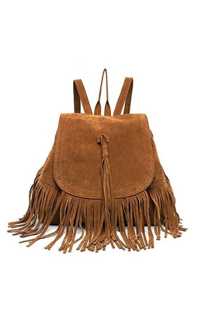 LUI SUI Fringed Backpack