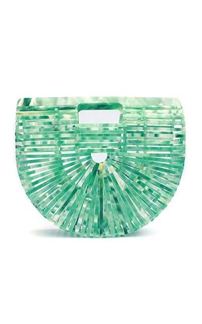 Ark Bamboo/Acrylic Clutch Handbag