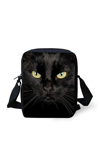 CLOHOMIN Black Cat Crossbody Bag