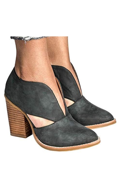 LAICIGO Cutout Ankle Booties