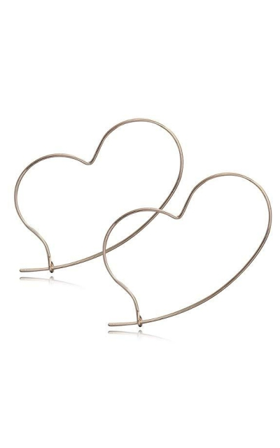Heart Wire Threader Earrings