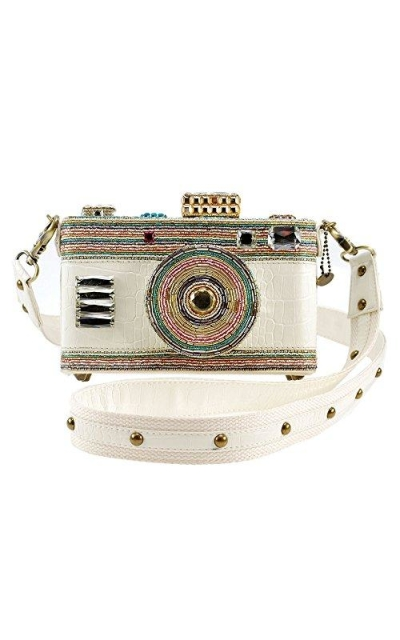 MARY FRANCES In Focus Beaded Camera Crossbody