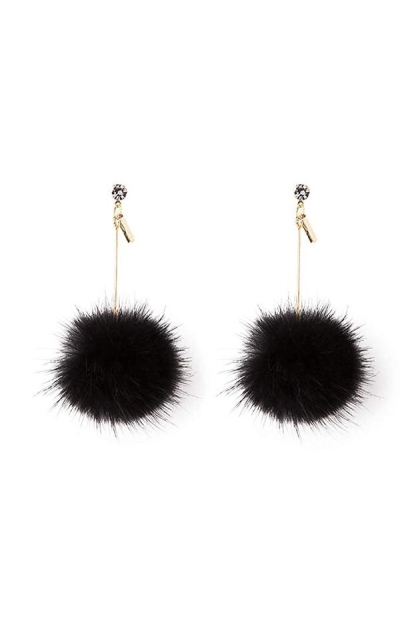 Ilishop Fur Pom Pom Ball Earrings