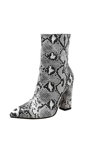 Snakeskin Pattern Booties