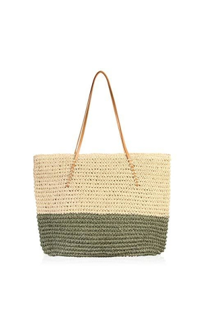 RIAH FASHION Boho Rattan Crochet Straw Tote