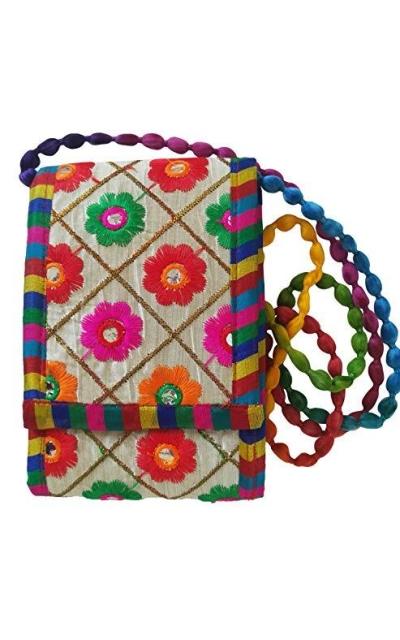 Small boho embroidered Crossbody Bag