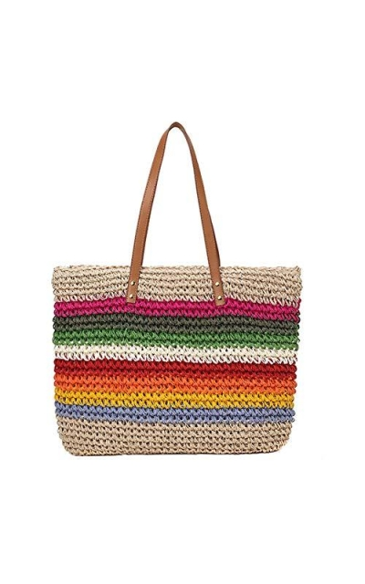 handwoven straw bag cute rattan handbag