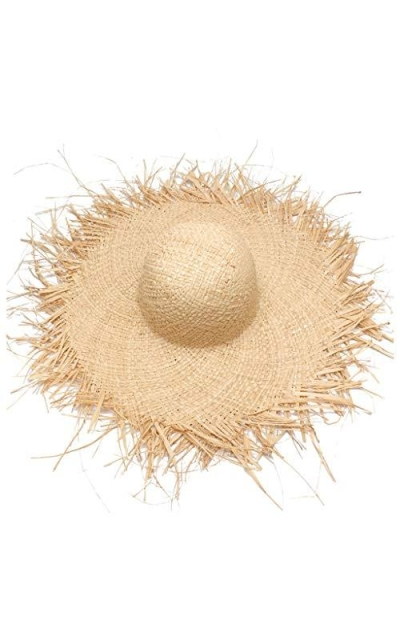 JXLBB Super Big Personality Raw Edge Straw Hat
