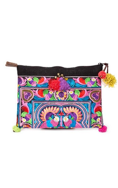 Changnoi Handcrafted Embroidered Clutch
