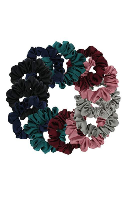 12 Satin Scrunchies