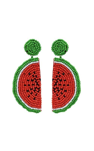 Beads Fruit Watermelon Drop Earrings