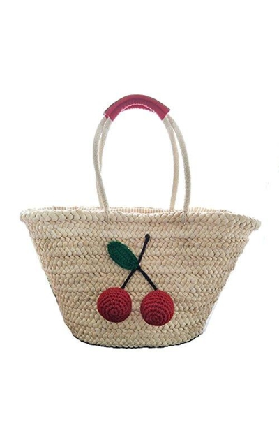 Red Cherry Pom Totes