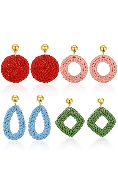 AIDSOTOU Rattan Stud Earrings