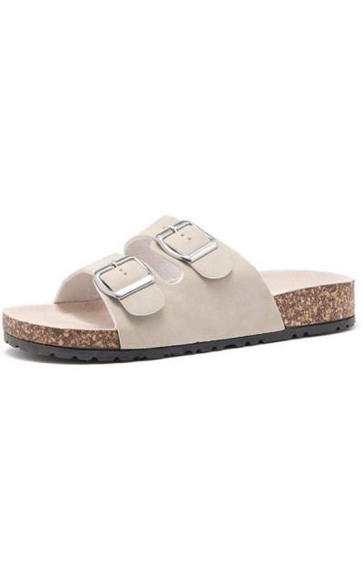 Herstyle Softey Buckled Slip on Sandal