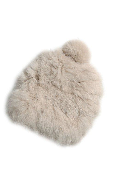 XWDA Knitted Rabbit Fur Hat Cap