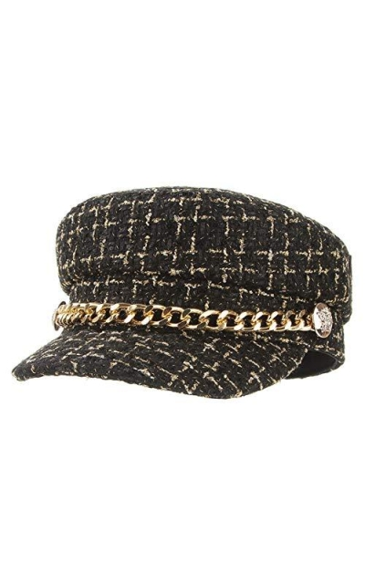 EOZY Tweed Newsboy Hat