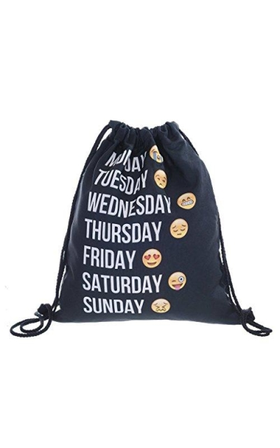 Ababalaya Days of the Week Sling Backpack