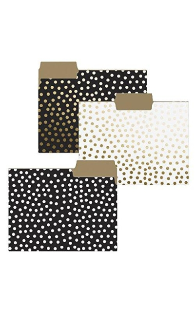 Graphique Gold Dots File Folder Set of 9