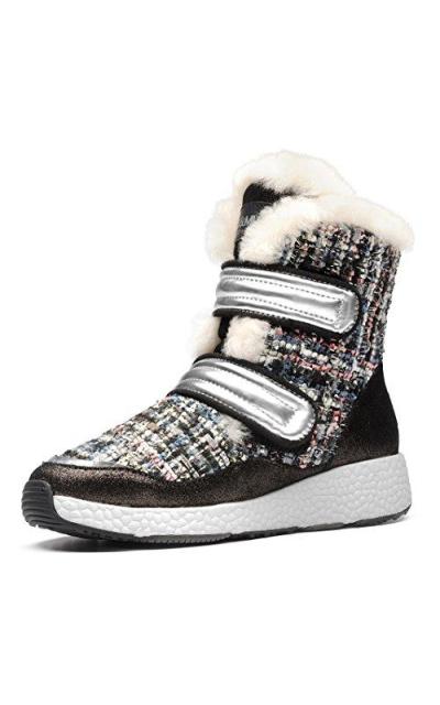 AU&MU Aumu Multicolored Knitting Winter Snow Boots