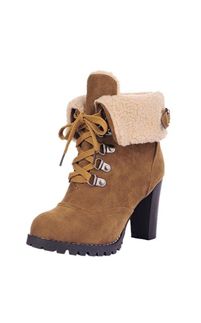 OCHENTA Military Ankle Boots