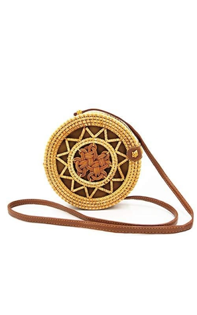 Handwoven Round Rattan Bags