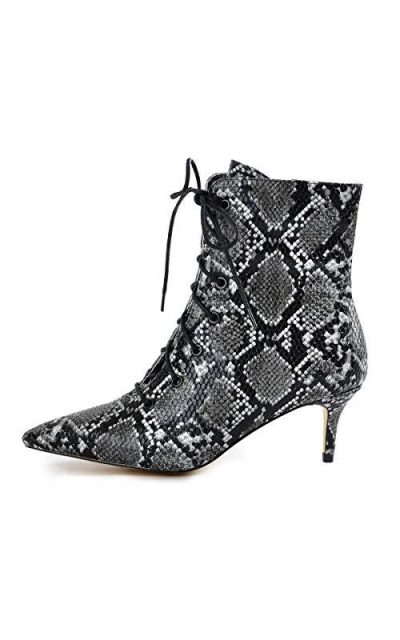 Onlymaker Lace Up Boots Snakeskin