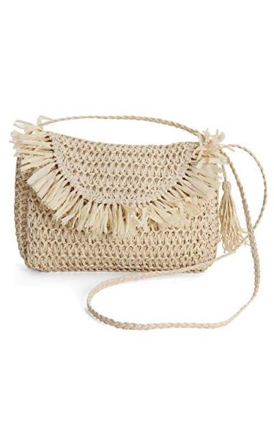 Rutledge & King Straw Crossbody Bag