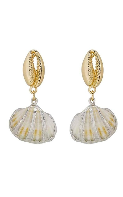 Pearl Drop Shell Earrings