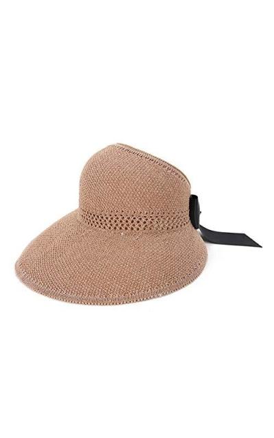 Bonvince Straw Sun Visor Hat