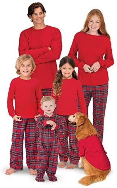 PajamaGram Family Christmas Pajamas Set - Soft Stewart Plaid