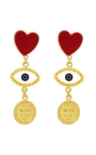 Suyi Evil Eye Drop Dangle Earrings