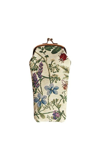 Light Floral Eyeglasses Pouch