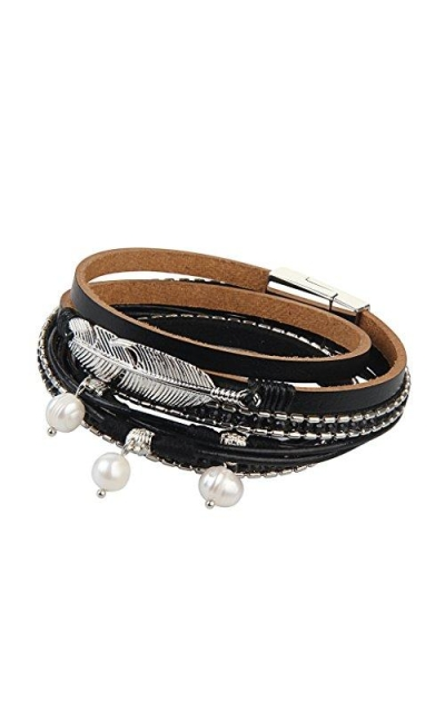 Jenia Cuff Bracelets Feather Wrap Bracelet