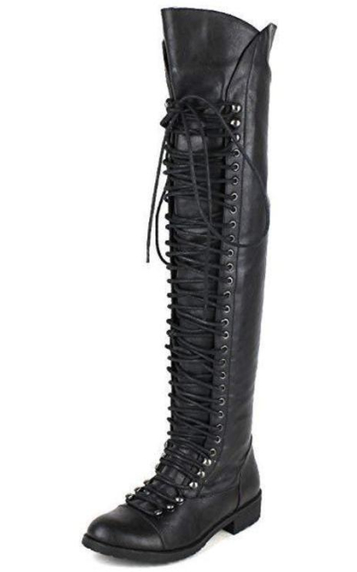 Travis 05 Military Lace Up Thigh High Combat Boot
